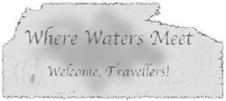 Where waters meet sign