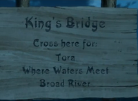 Kings Bridge Sign