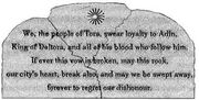 Oath stone
