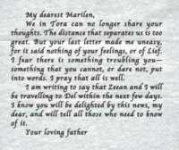Marilen's father's note