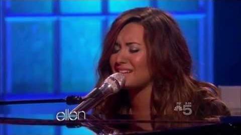 Demi Lovato - Skyscraper LIVE at Ellen 2011.