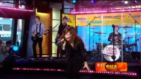 "Demi Lovato ""Get Back"" Live Performance Good Morning America 2008"