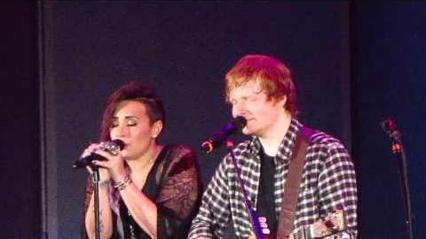 "Ed Sheeran and Demi Lovato - ""Give Me Love"" Live (HD)"