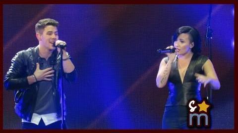 "Nick Jonas & Demi Lovato - ""Avalanche"" Live at KIIS FM Jingle Ball 2014"