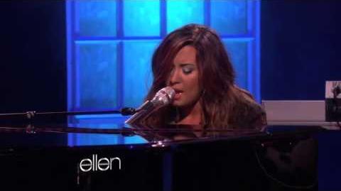 Demi Lovato - Skyscraper (Live @ The Ellen Show) HD