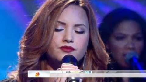 """Demi Lovato """"Skyscraper"""" at the Today Show"""