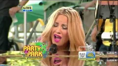 Demi Lovato - Skyscraper GMA Live 2012 Good Morning America