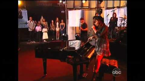 Demi Lovato performs for Extreme Home Makeover