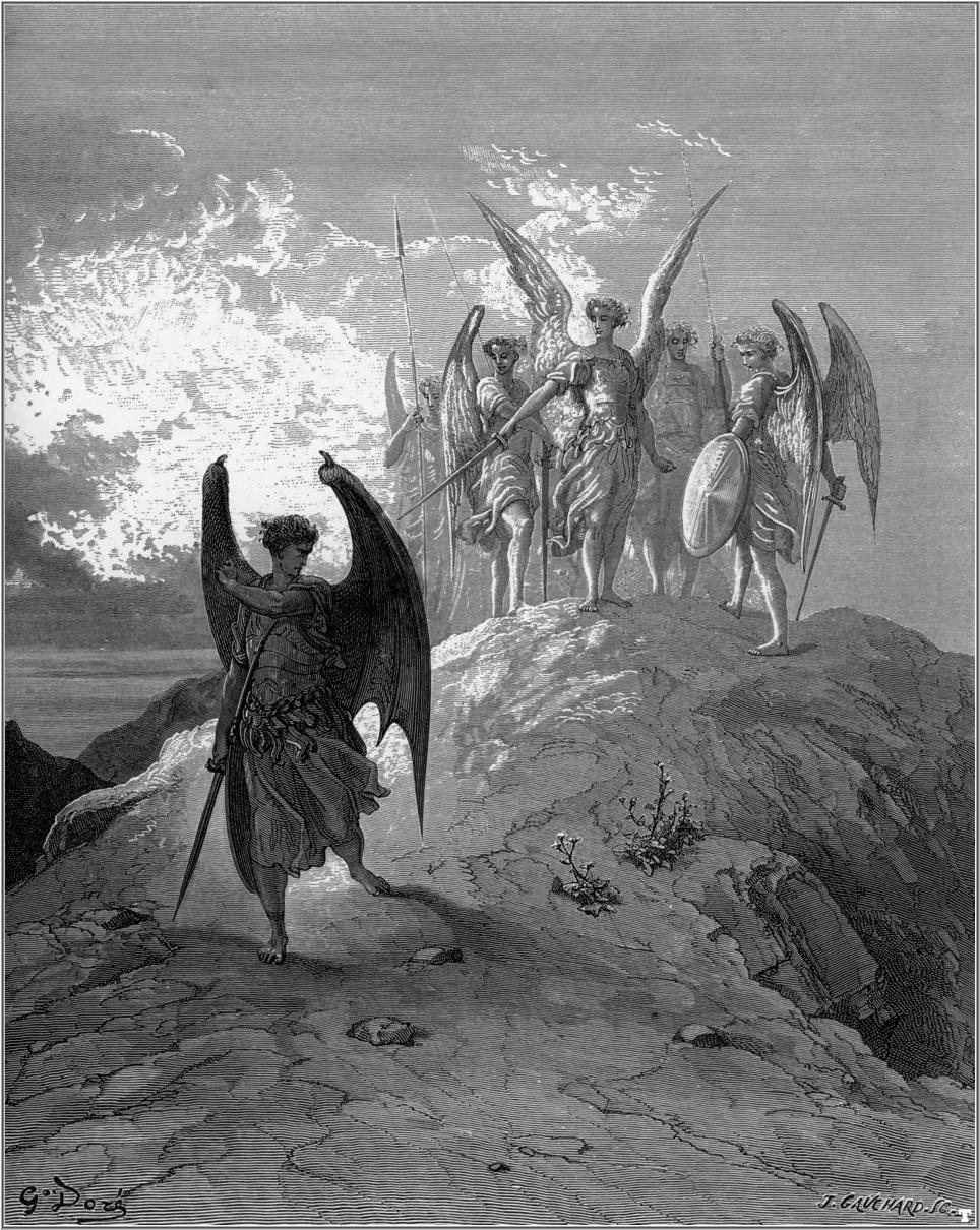 Image result for lucifer being banished from heaven