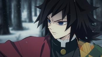 Giyu thinks about Tanjiro