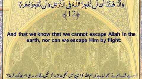 Video - Holy Quran - Surah Al Jinn, Surah No 72 - Arabic sub English
