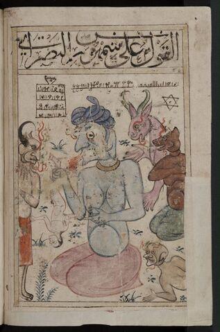 File:Kitab al-Bulhan --- human figure and jinns.jpg