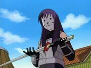 Yuugao mit Hayates Schwert