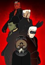 Four shields (Lot, Dike, Gauss, Jiro) of the Dark Lord (Noph)