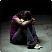 Depressed-teenager