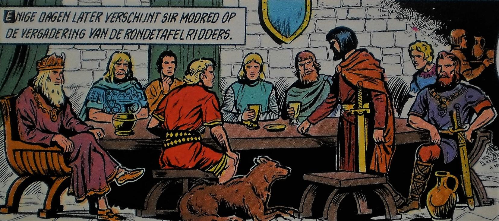 Ridders Aan De Ronde Tafel.De Ronde Tafel In De Originele Reeks De Rode Ridder Wiki