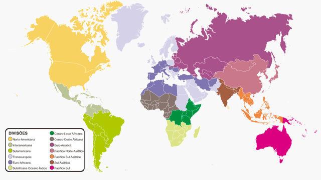 Mapa-divisões