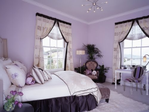Teenage Girls Purple Bedroom Themes
