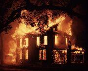 Burning-Martin-house