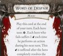 Word of Despair