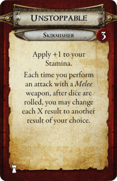 Skirmisher - Unstoppable