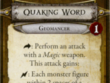 Quaking Word