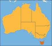 Australia location Tasmania