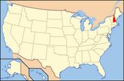 Map of USA NH