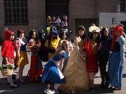 Disney princesses cosplay at Animecon 2009