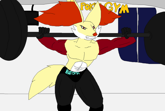 File:Batista Working out in Poke Gym.png
