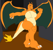 Charizard pretending to be giant