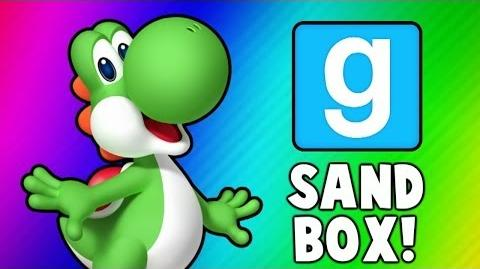 Gmod Sandbox Funny Moments - Banana Bus Dance, Boxing Arena, Yoshi Player Model (Garry's Mod)