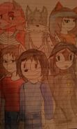 Drawing of friends