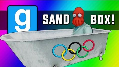 Gmod Winter Olympics - Sled Build Race & Chaos! (Garry's Mod Sandbox Funny Moments)