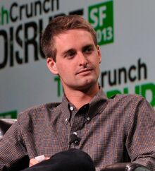Evan Spiegel at TechCrunch 2