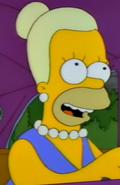 Woman resembling Homer