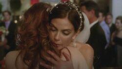 Katherine and Susan hug