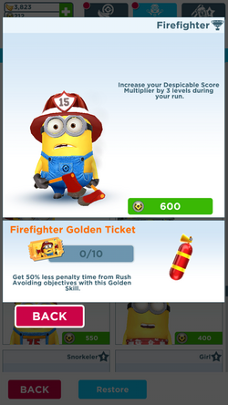 Firefighter Minion