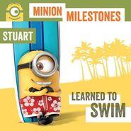 Stuart swimming