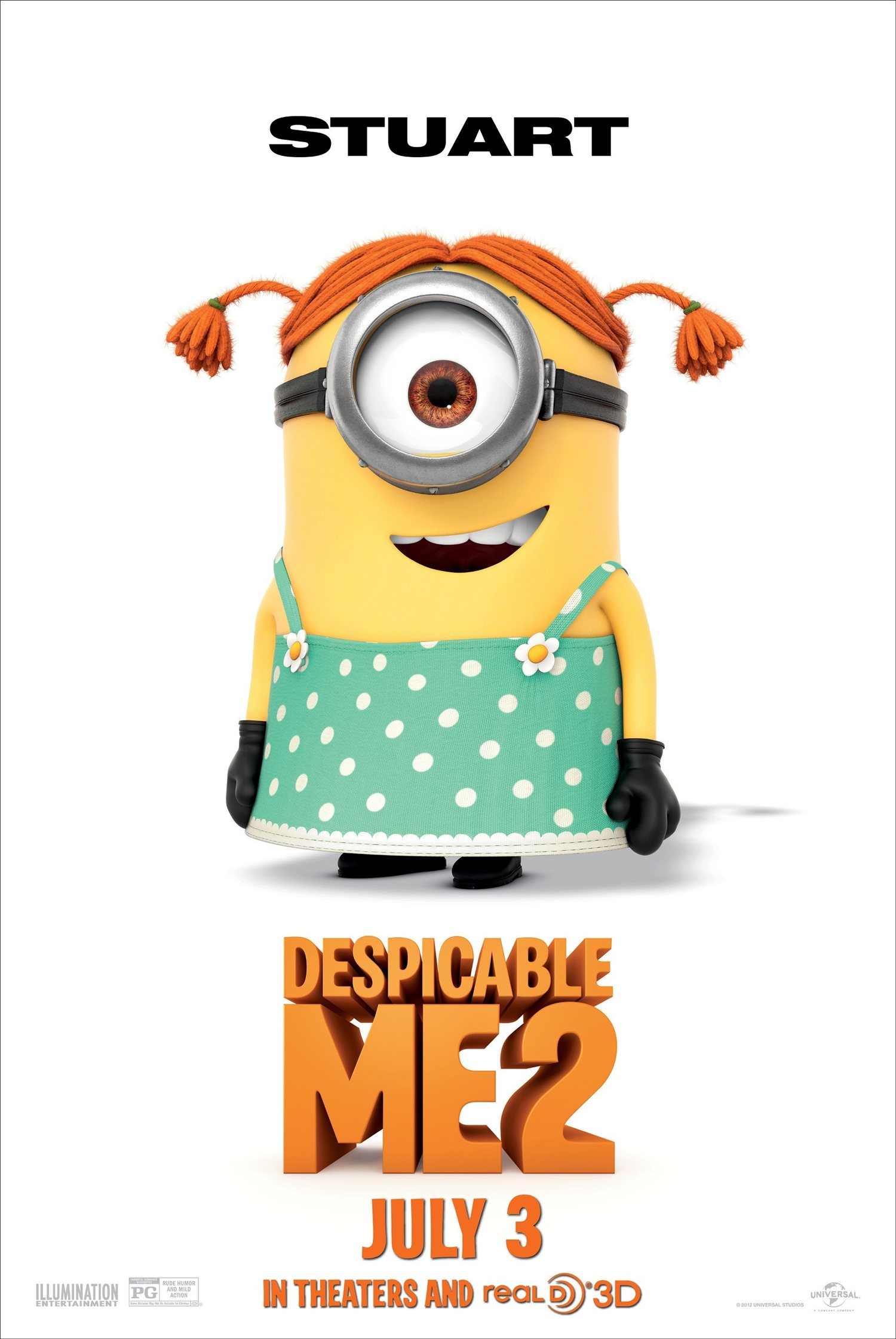 DESPICABLE ME 2 Stuart The Minion Poster