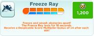 Freeze Ray upgrades