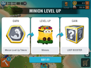Minion level up