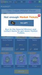 No enough ticket