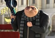 Gru smiling ith his freeze ray