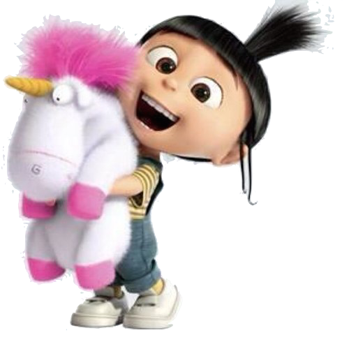 New Build A Bear Fluffy Unicorn Despicable Me Minion Movie Plush Doll Pink NWT