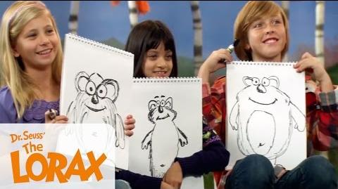 Behind the Scenes - How to Draw a BarBaLoot The Lorax Illumination