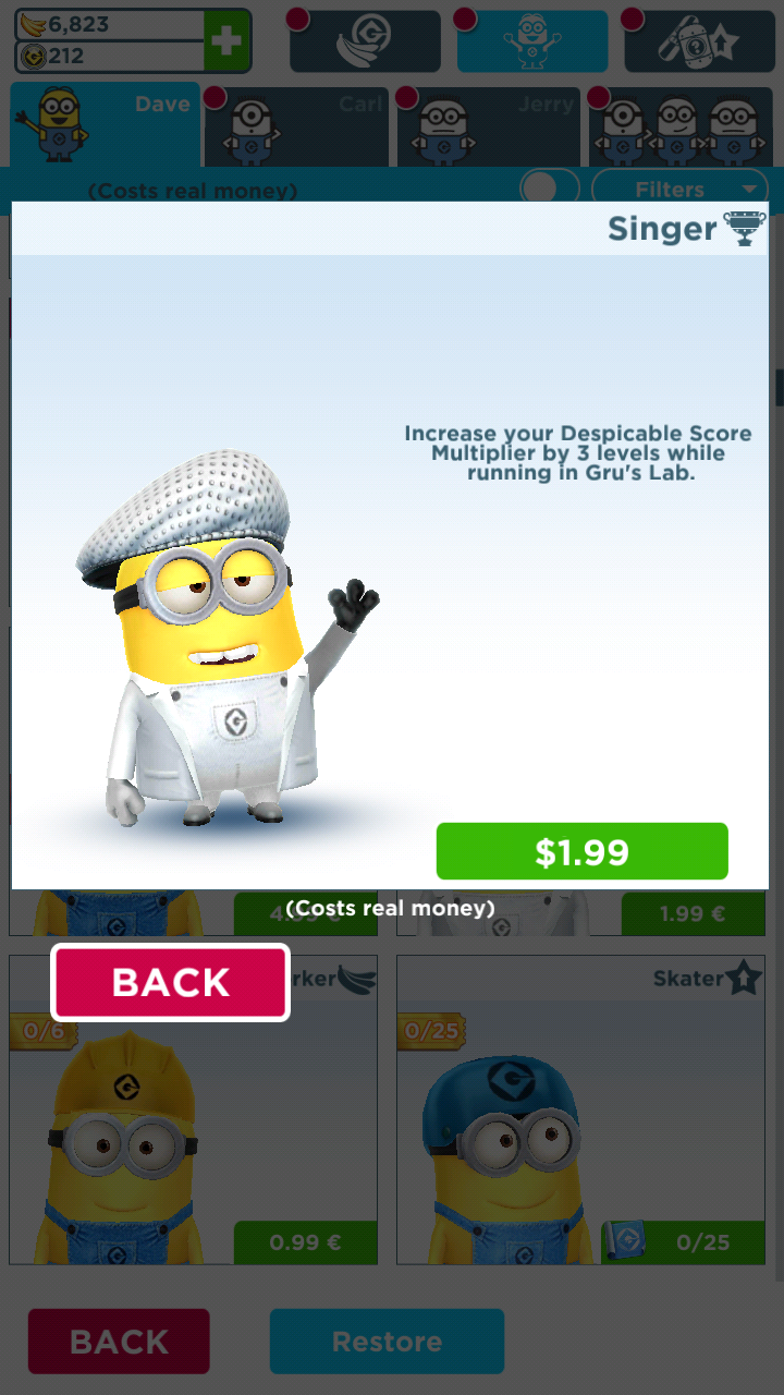 Singer Minion Costume   Despicable Me Wiki   FANDOM powered by Wikia