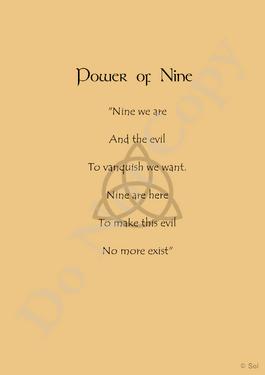 Power of nine page - copyright symbol - do not copy
