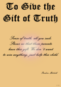To Give the Gift of Truth - copyright symbol