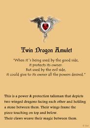 Twin dragon amulet page - copyright symbol